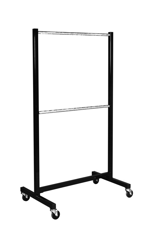 display way racks three garment luna retail clothing rack commercial rolling